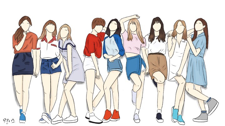 Line Art Kpop : Freetoedit twice kpop art drawing jyp sketch lineart