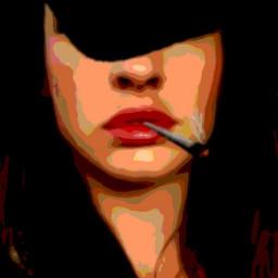 digital art cartoon smoke