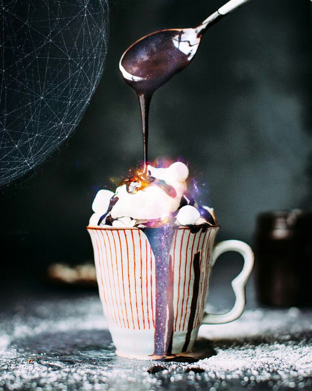 #FreeToEdit  Pouring stars to the ice cream