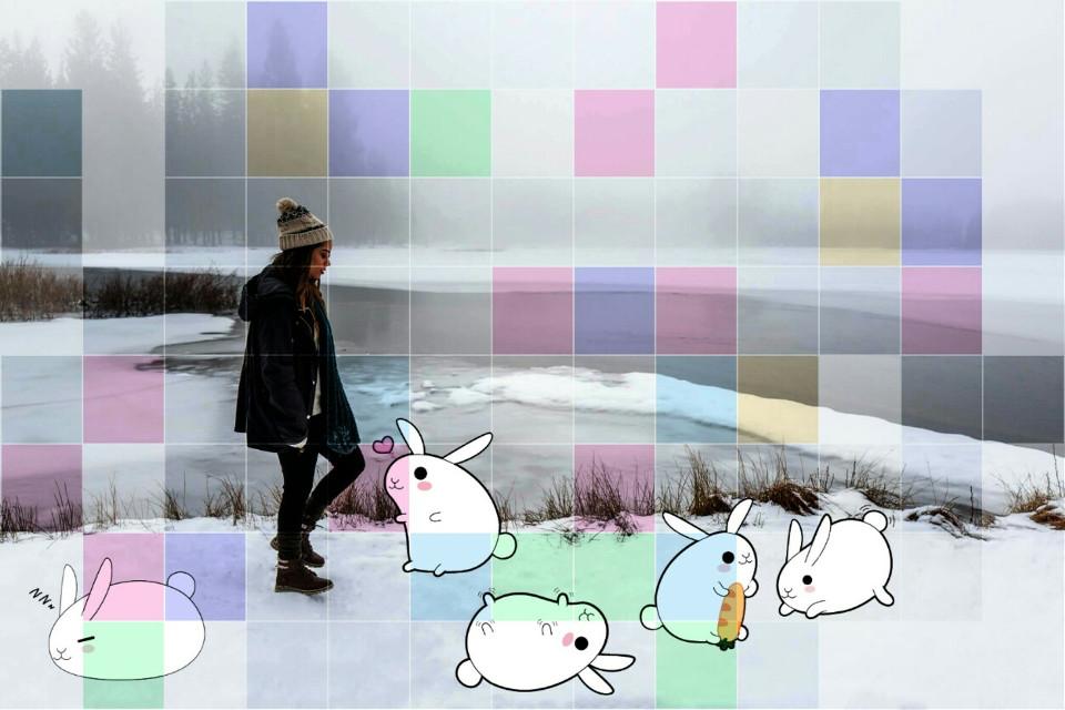 Hey there lil bunny~#FreeToEdit #cutebunny #sticker #rabbit