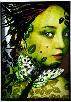 remixed green portrait