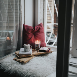 freetoedit candles window books cold