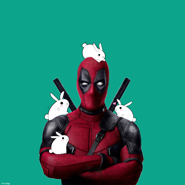#deadpool  #rabits  #myedit  #creative  #artistic  #popart  #cute  #funny