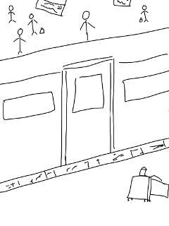 pencilart sketch train trainstation