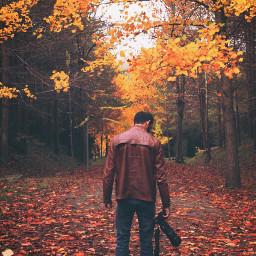 people me boys autumn landscape freetoedit