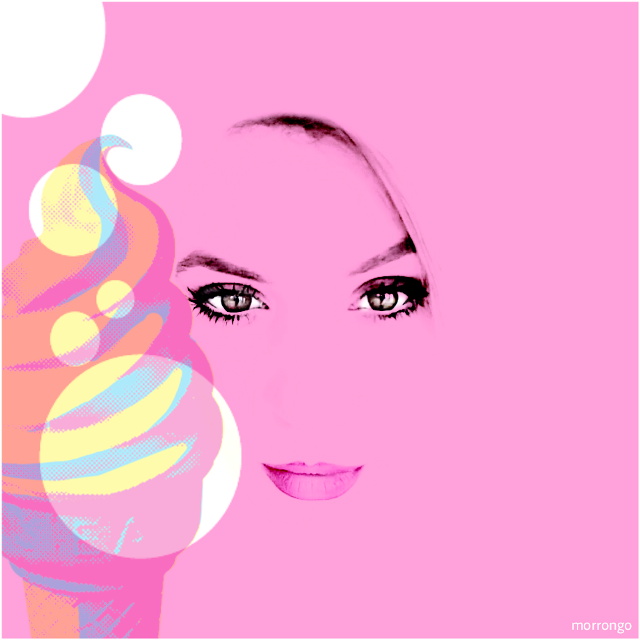 Original photo by @andreeamaria6  #FreeToEdit  #myedit  #popart  #retro  #vintage  #pink #artistic