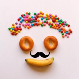 freetoedit mustache colorful