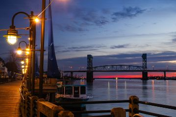 boardwalk capefearriver wilmingtonnc sunset bridge