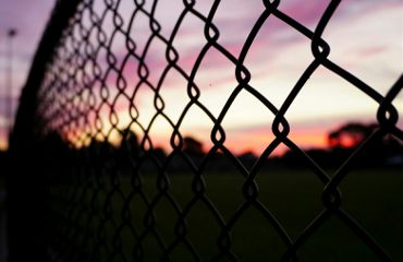 sunset fence pink colorful