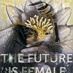 freetoedit future female waterlily doubelexposure