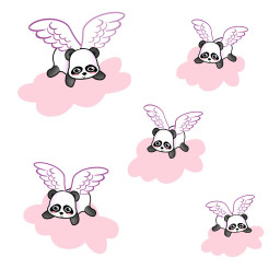 freetoedit pink flying pandas pandacloudremix