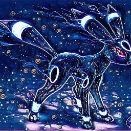 pokemon umbreon japan midnightfilter freetoedit