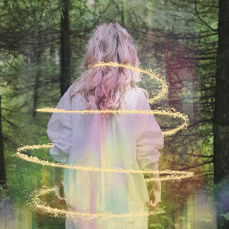 freetoedit spiralangel northernlights intothewoods sparkles