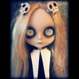 doll horror cute skull creepyedit