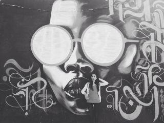 freetoedit blackandwhite graffiti
