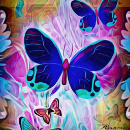 holographicmakeup stickers butterflies interesting manyeffects wapholographicbackground