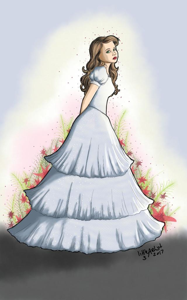 Princess girl #colorful #autodesksketchbook #drawing #sketch #princess #dress