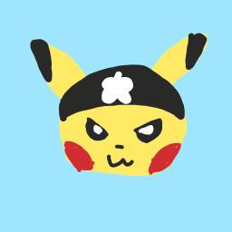freetoedit drawing simple pikachu pokemon