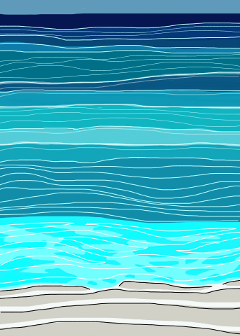 drawing ocean beach waves popart freetoedit