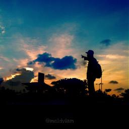 indonesia view beauty senja siluet