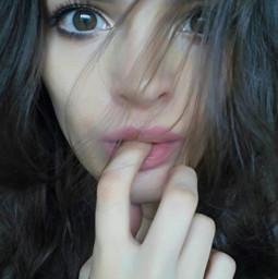me notedited girl eyes hair freetoedit